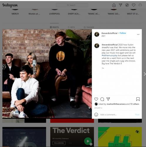 The Verdict photoshoot on their Instagram page