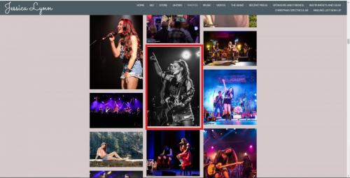 Jessica Lynn live pics from her Night People gig on her website