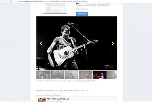 James Blunt live at Manchester Arena featured on Live-Manchester
