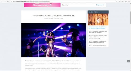 Mabel at Victoria Warehouse featured on Live-Manchester