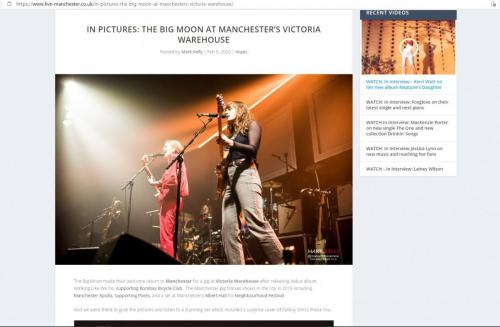 The Big Moon at Manchester's Victoria Warehouse featured on Live-Manchester