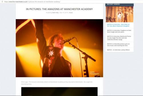 The Amazons live at Manchester Academy featured on Live-Manchester