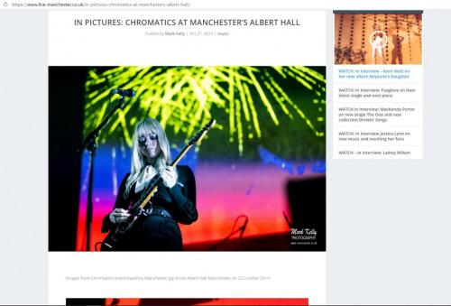 Chromatics live at the Albert Hall featured on Live-Manchester