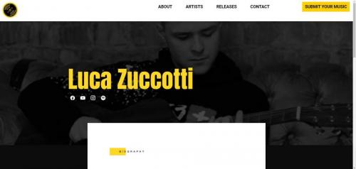 Luca Zuccotti on the Hope Valley Records website